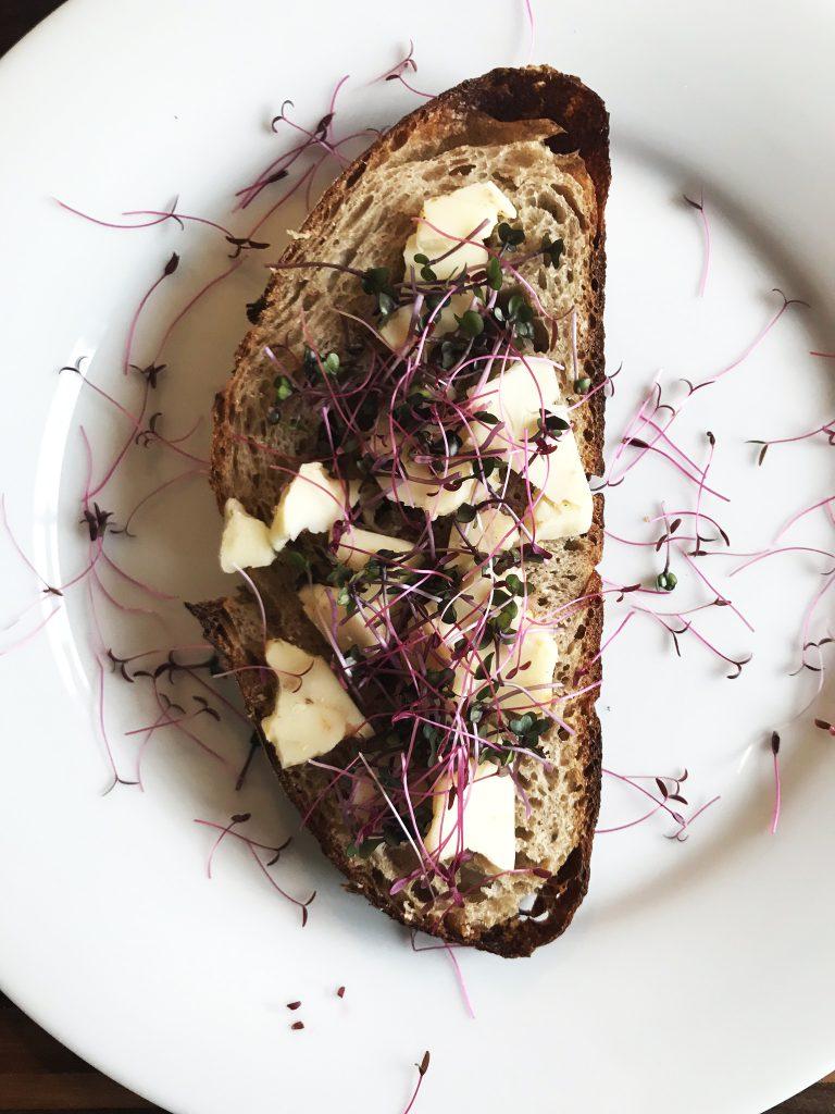 Microgreens on toast