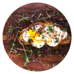 soft boiled egg microgreen toast