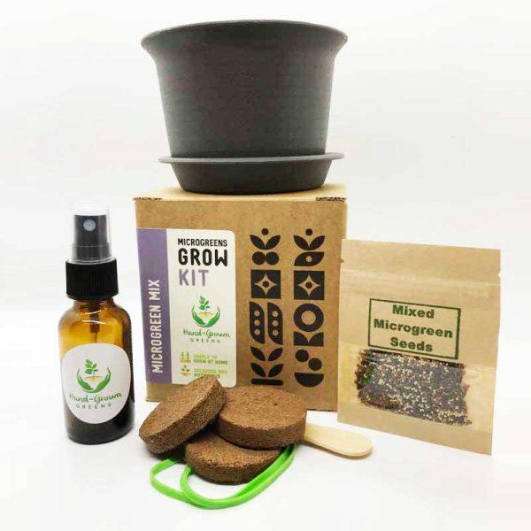 grow mixed microgreens at home with grow kit