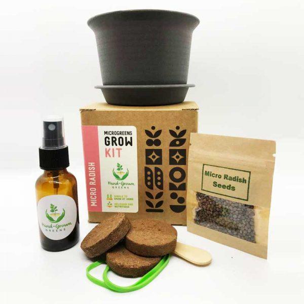 radish microgreen grow kit