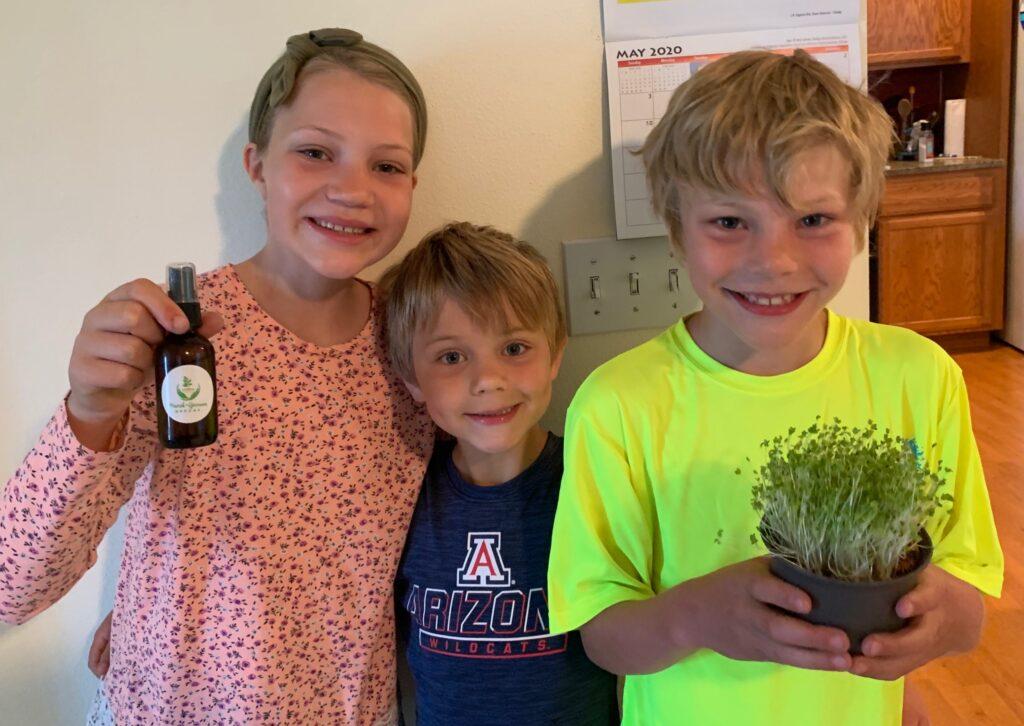kids growing microgreens