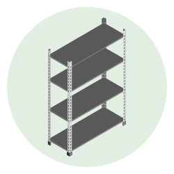 growing shelves icon